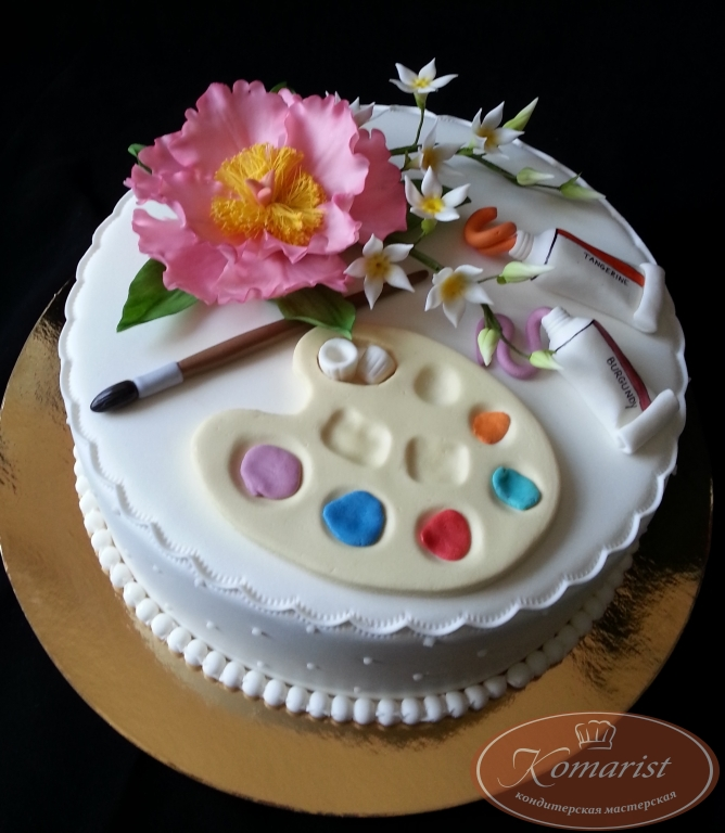 Торт палитра своими руками