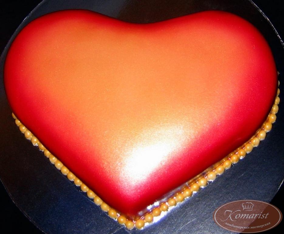 Торт сердцем своими руками фото 25